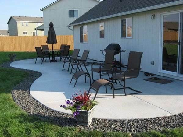 24 Simple Backyard Landscaping Ideas Which Look ... on Simple Concrete Patio Designs id=43394