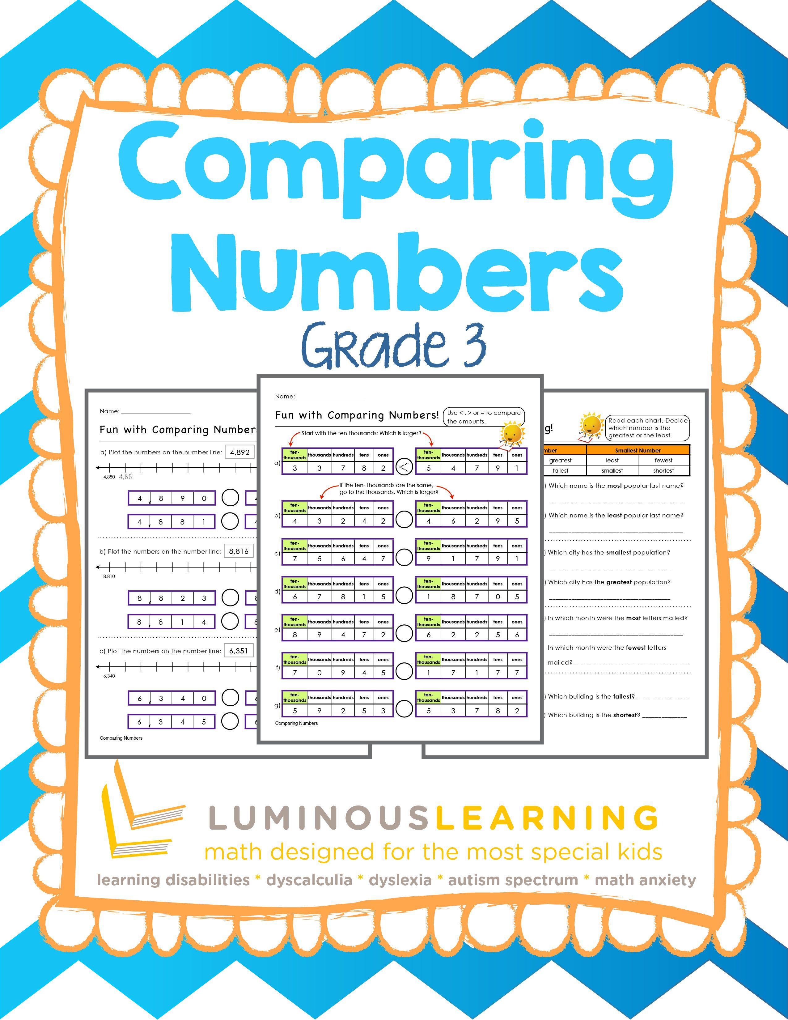 Grade 3 Comparing Numbers Printable Workbook