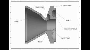 KBaffles 3D CAD Design (22LR SuppressorSilencer