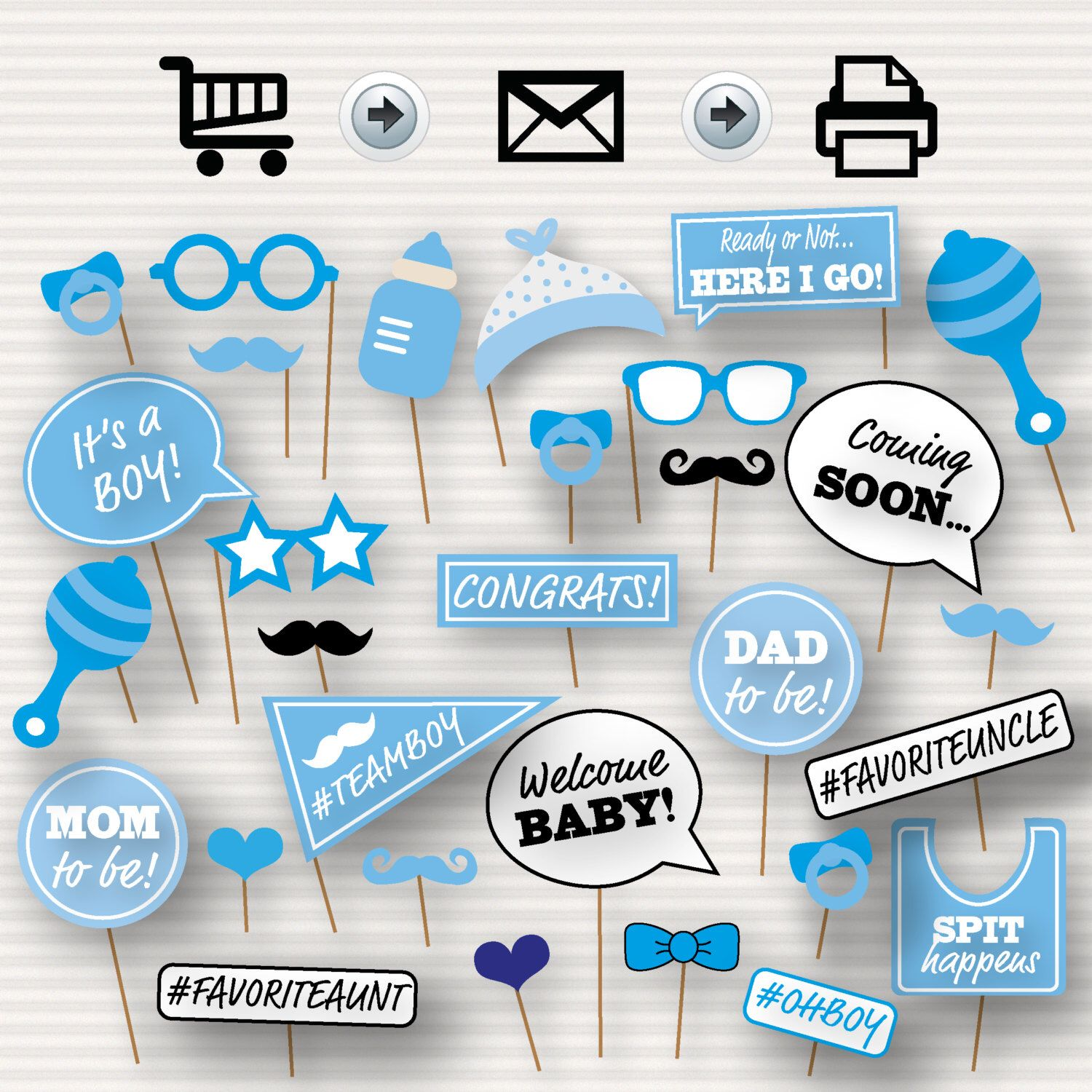 Baby Shower Printable Photo Booth Props