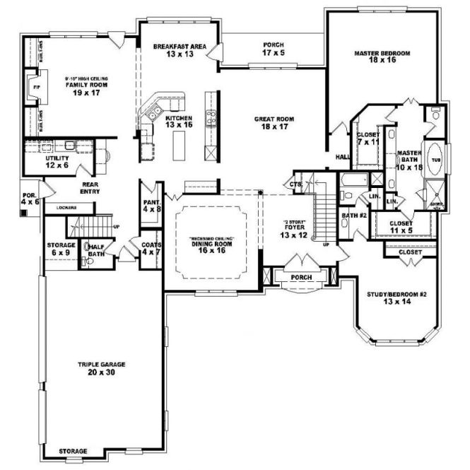 653924 1 5 Story 4 Bedroom Bath French Country Style House Plan