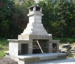Image result for how to build an outdoor fireplace with ... on Outdoor Fireplace With Cinder Blocks id=46899