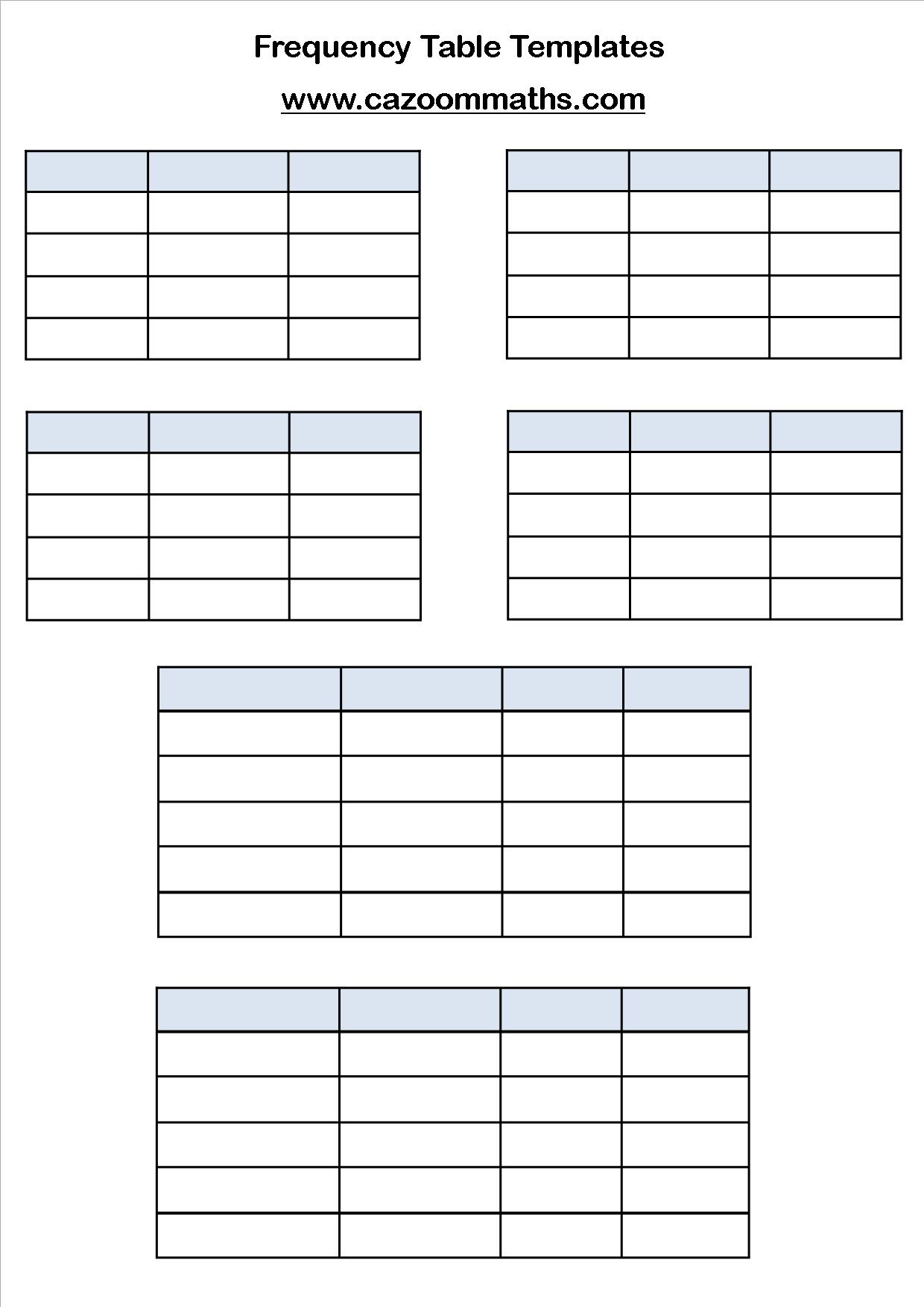 Gcse Statistics Worksheets
