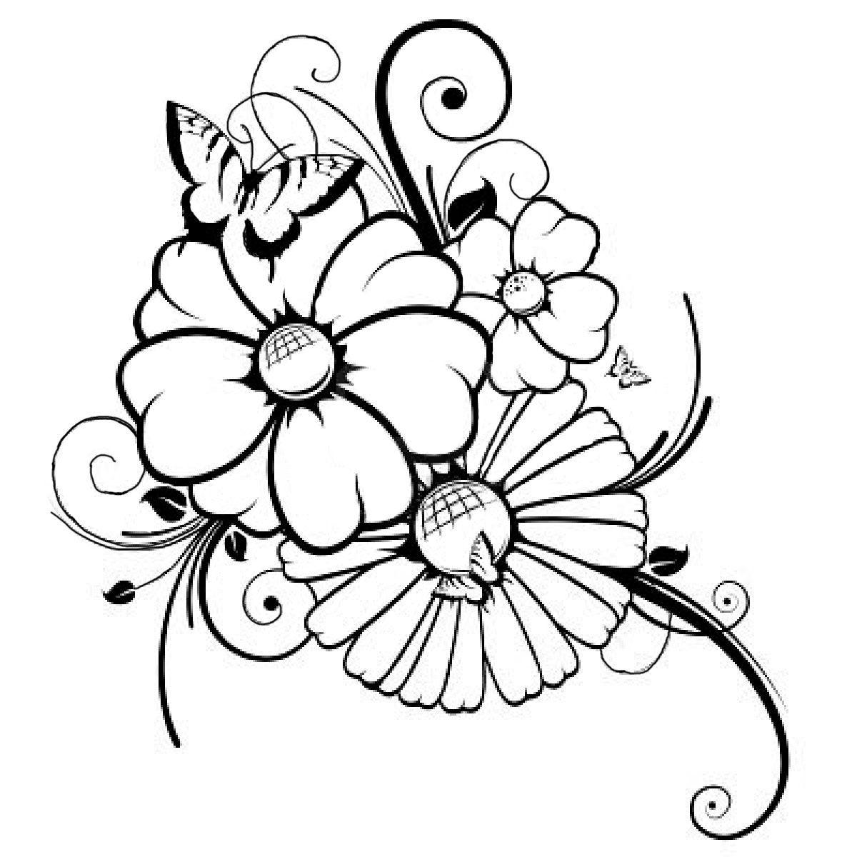 Schwere Ausmalbilder Blumen Ausmalbilder Webpage