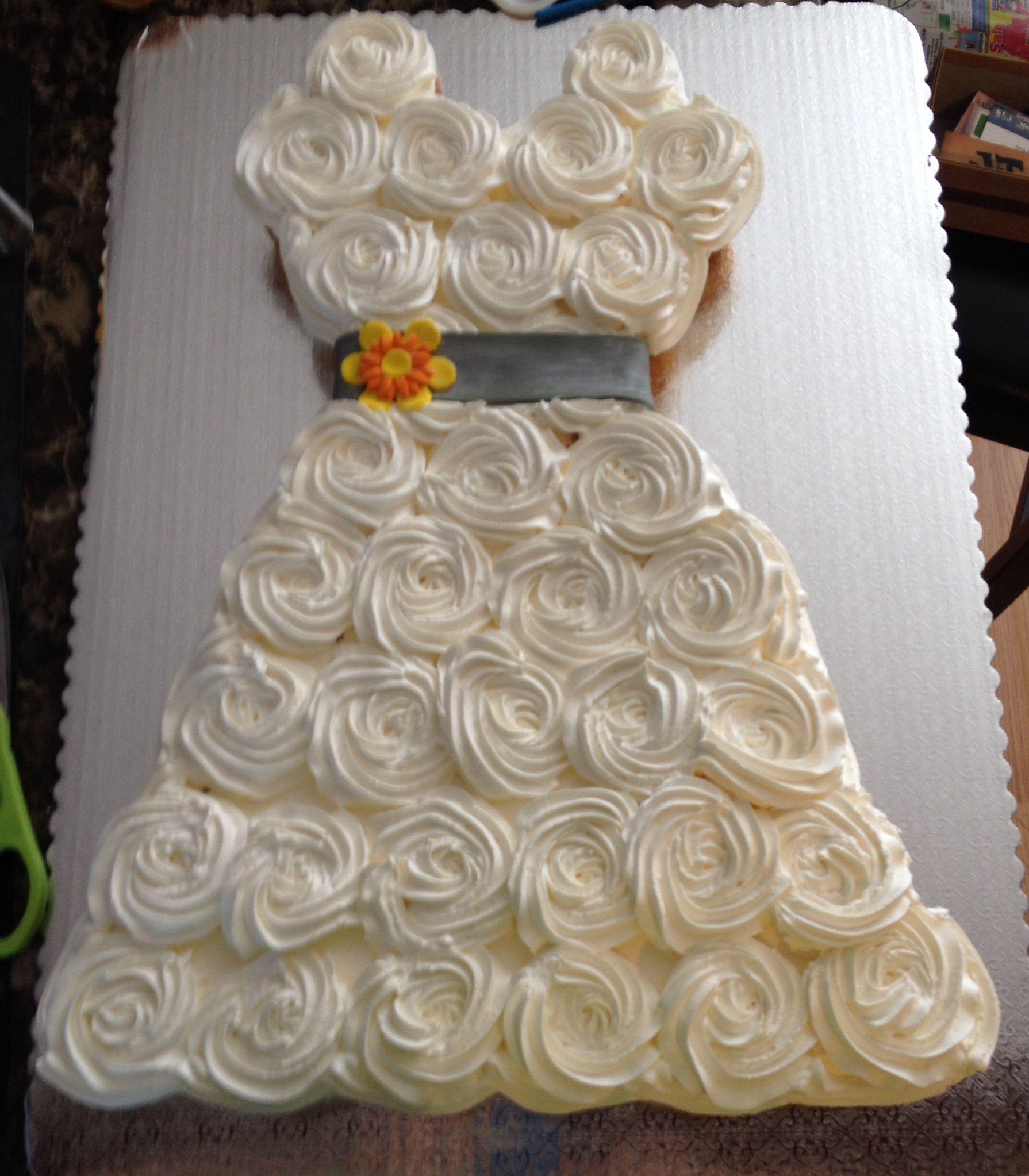 Bridal Shower Wedding Dress Cupcakes