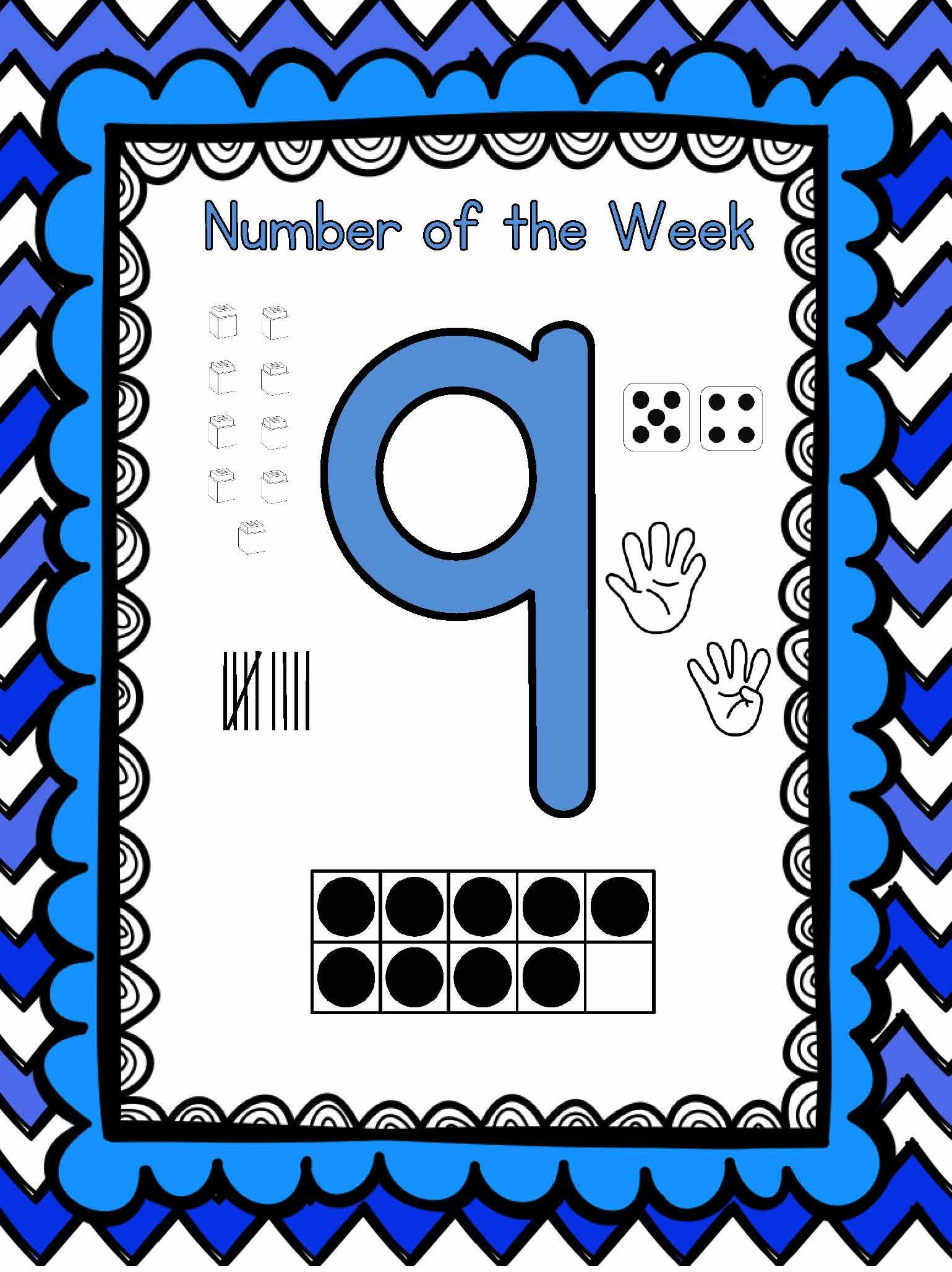 Number Of The Week Numbers To 30