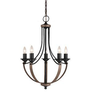 Kenna 5 Light Mini Candle Style Chandelier