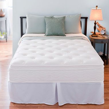 12 Night Therapy Euro Box Top Spring Mattress Bed Frame Set Full