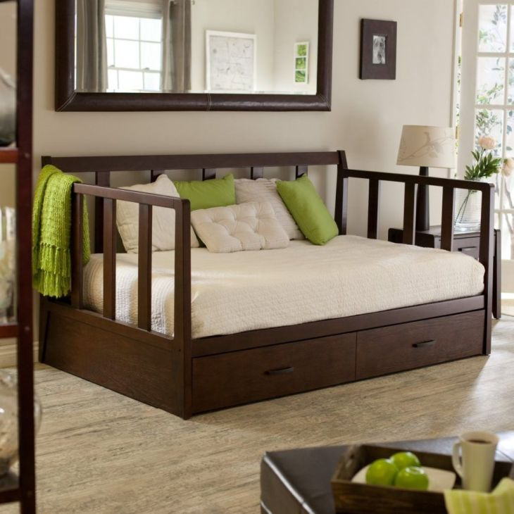 Full Size Daybed Frame With Storage  Bed Frames Ideas  Pinterest