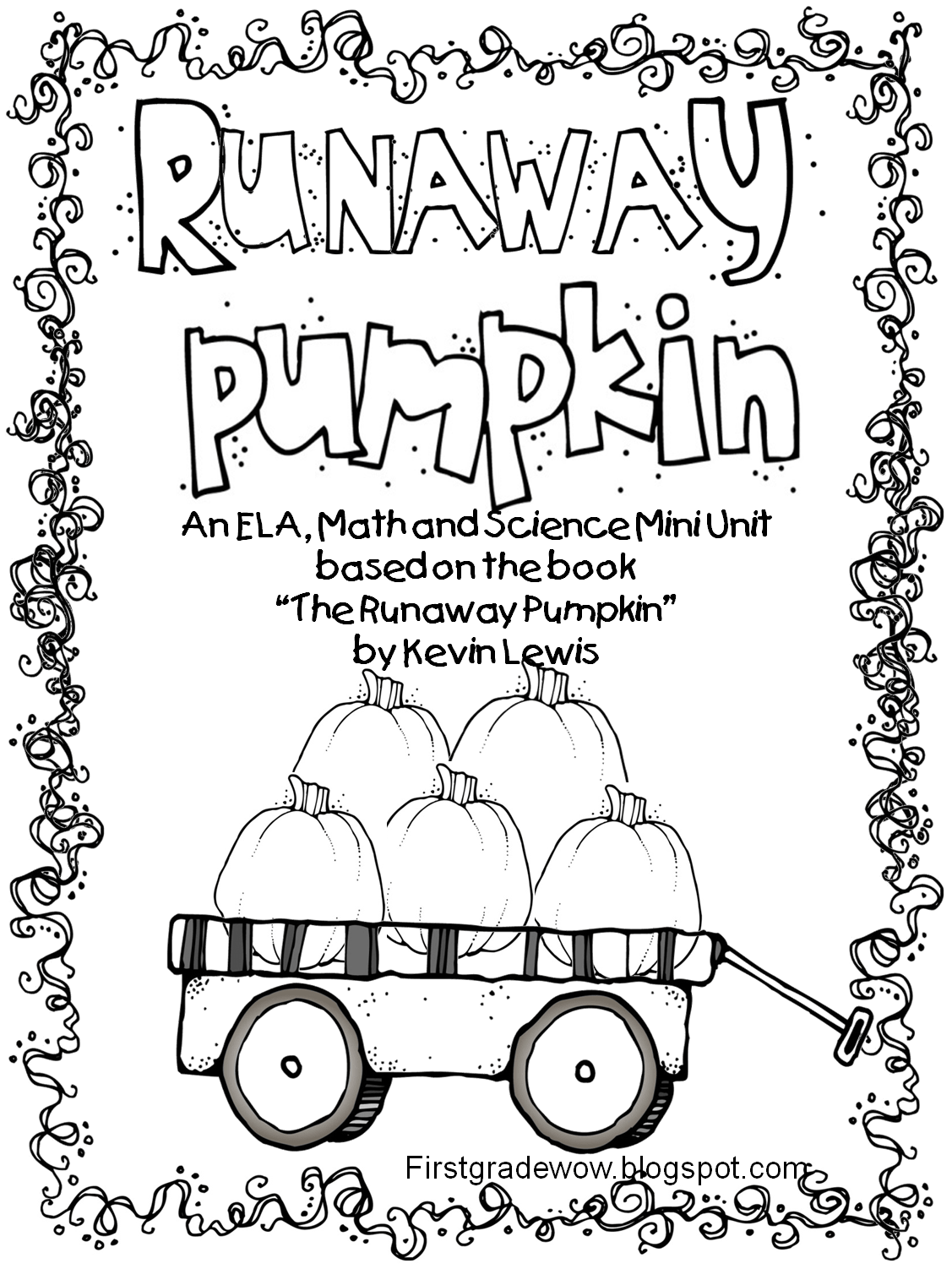 First Grade Wow Runaway Pumpkin