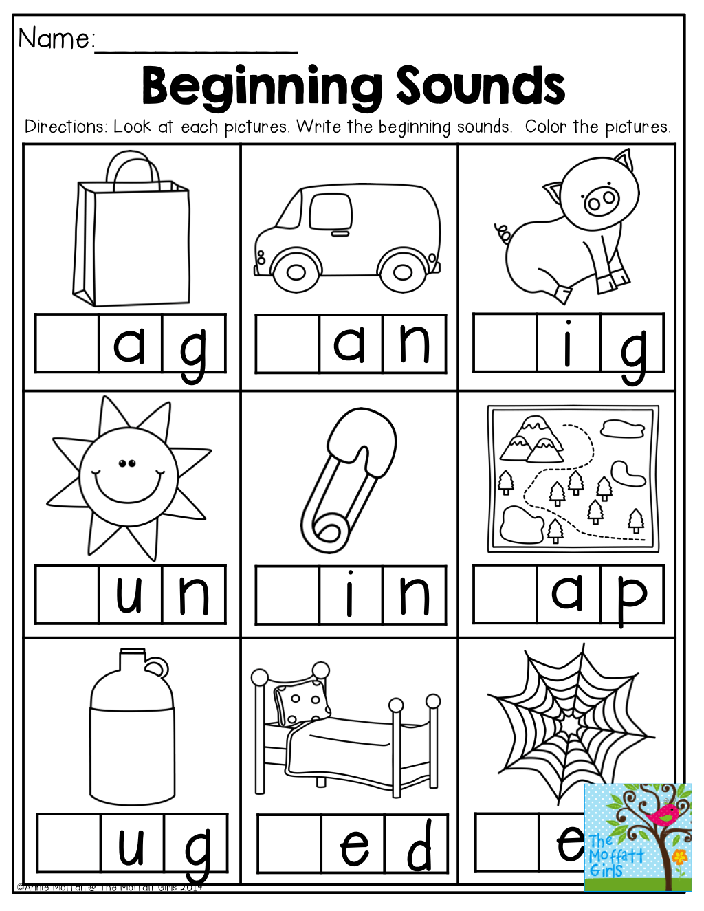 Beginning Sounds And Tons Of Other Back To School Printables