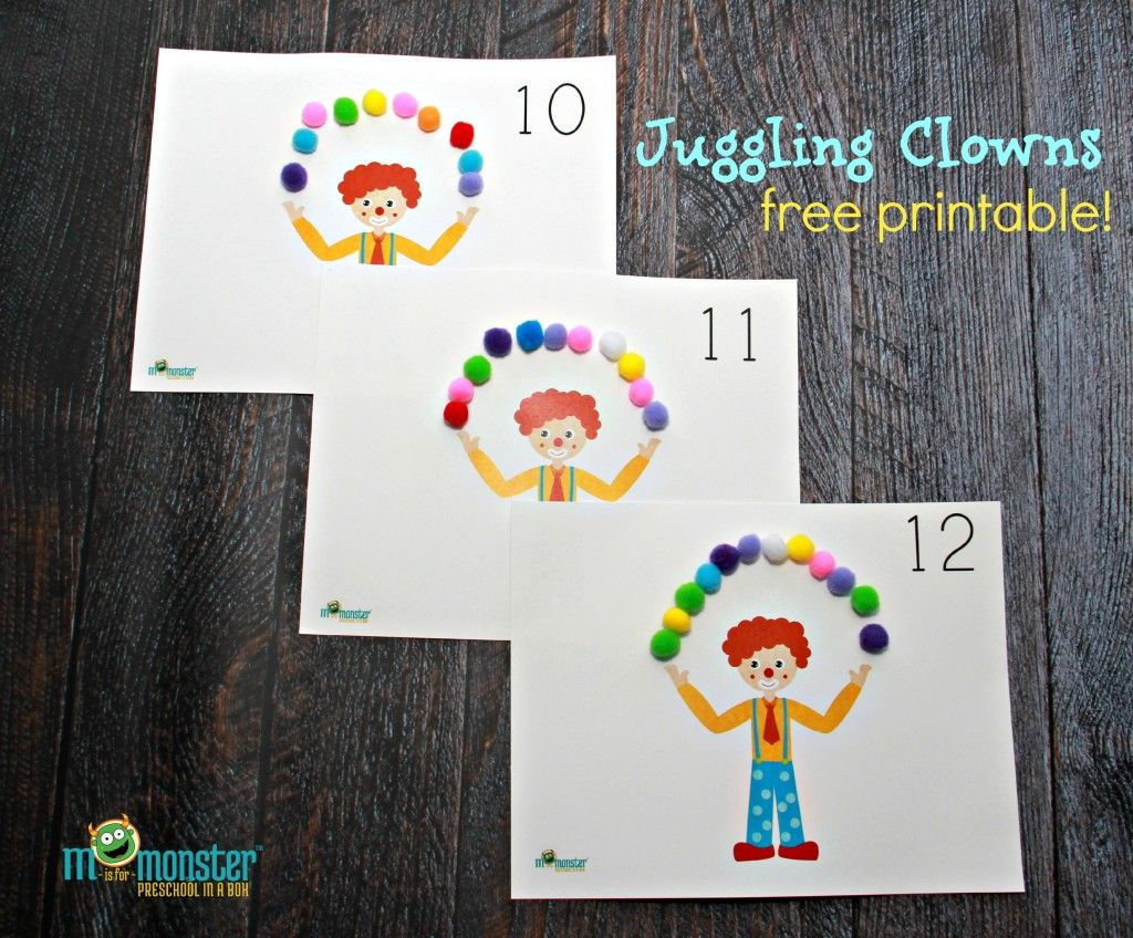 Juggling Clown Counting Activity For Toddlers And