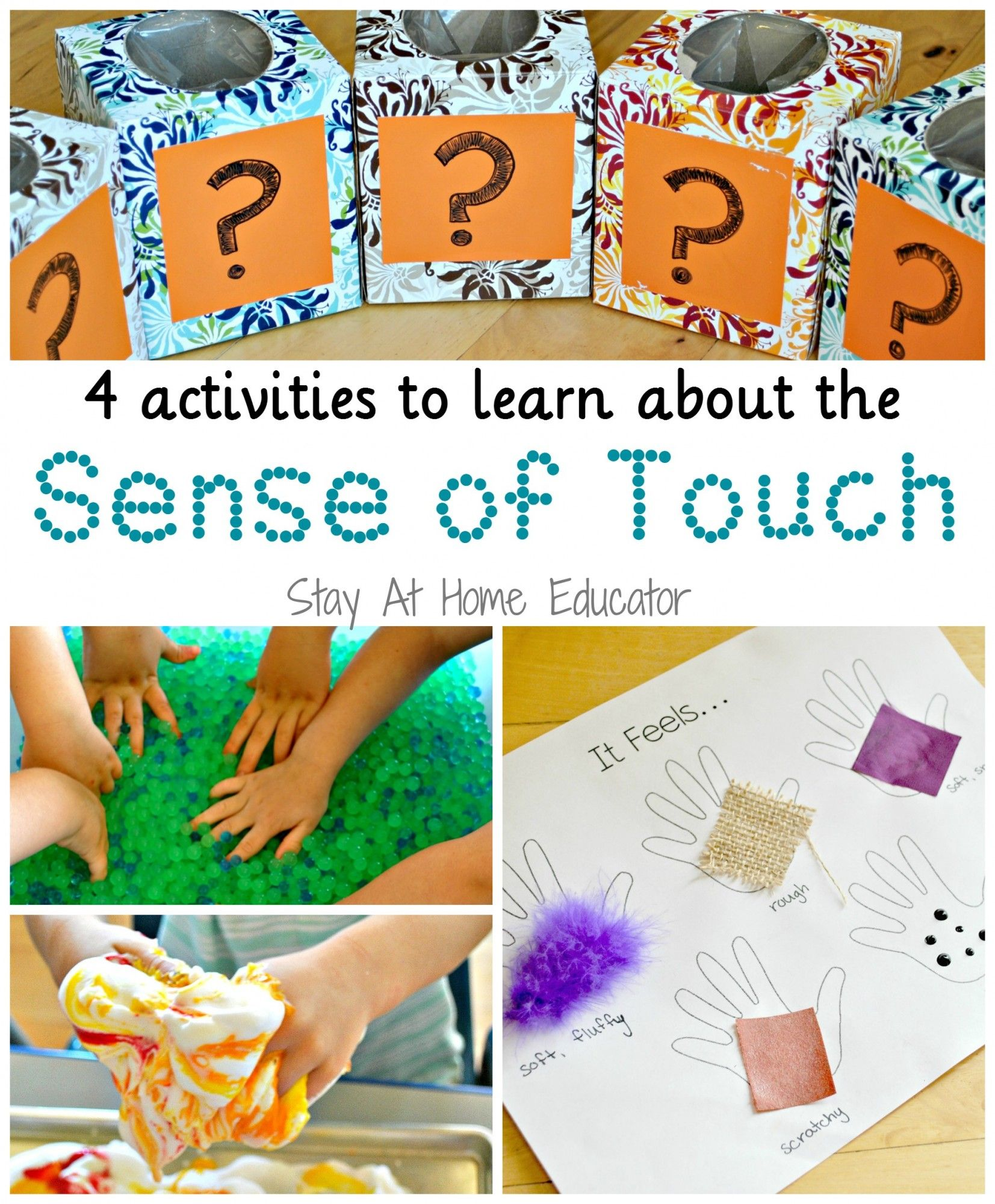 4 Activities To Learn About The Sense Of Touch In Five Senses Preschool Theme