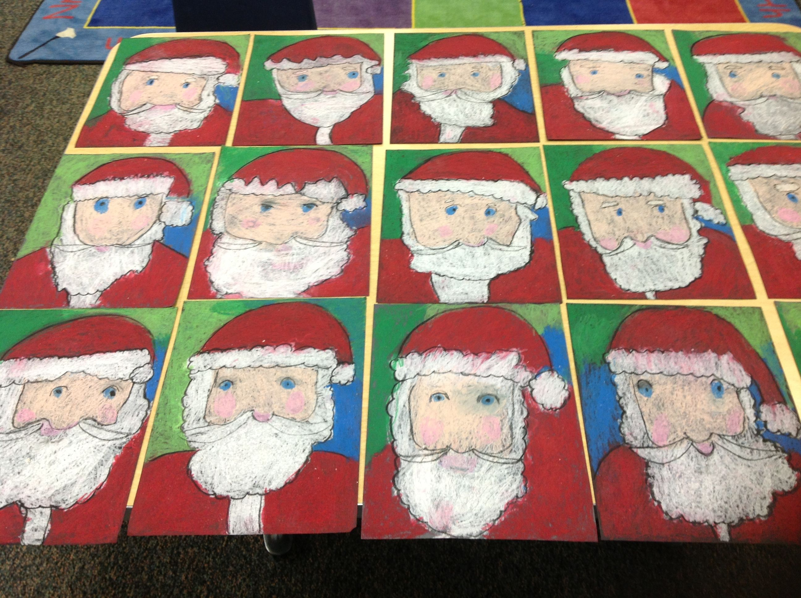 My Directed Drawing Santas So Proud Of My Kindergartners