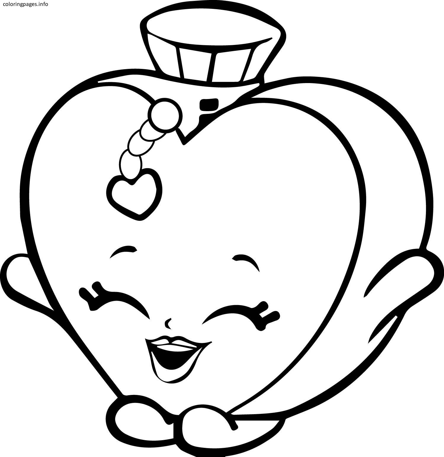 Shopkins Coloring Pages Heart Smile Shopkins Coloring Pages 23