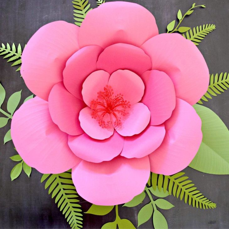 Giant Hibiscus Paper Flowers Giant Paper Flower Backdrop Paper