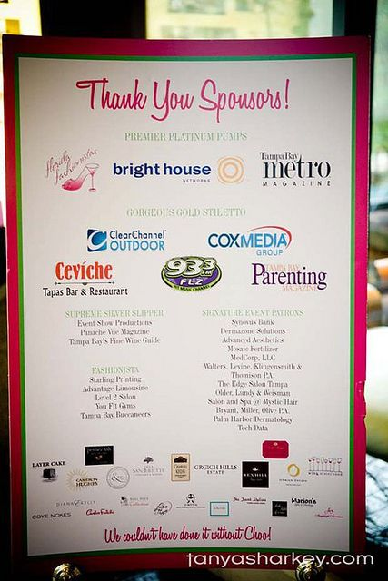 Tampa Sponsor Thank You Logos Fundraising And Silent