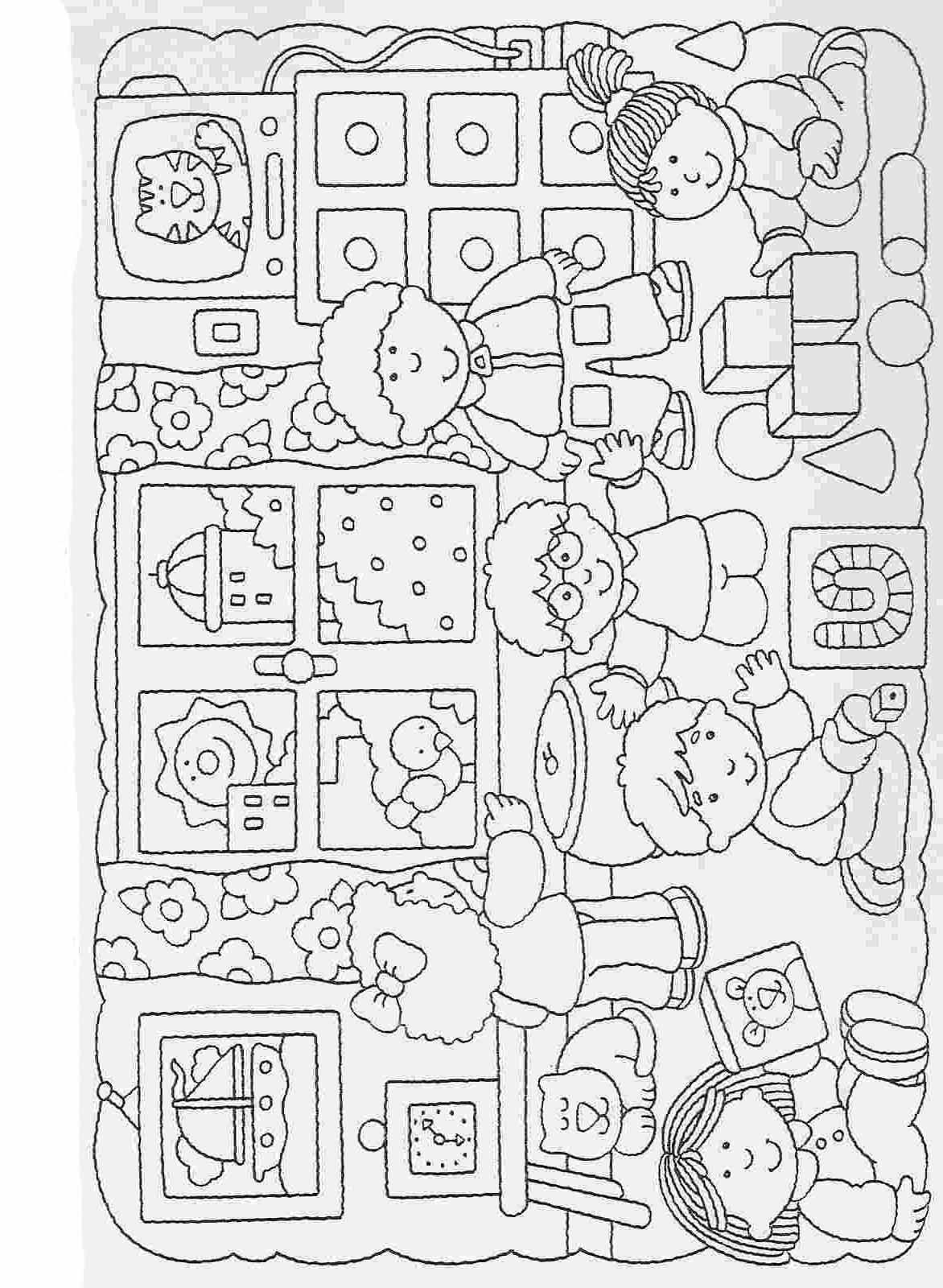 Elementary School Worksheets Complete And Coloring 41