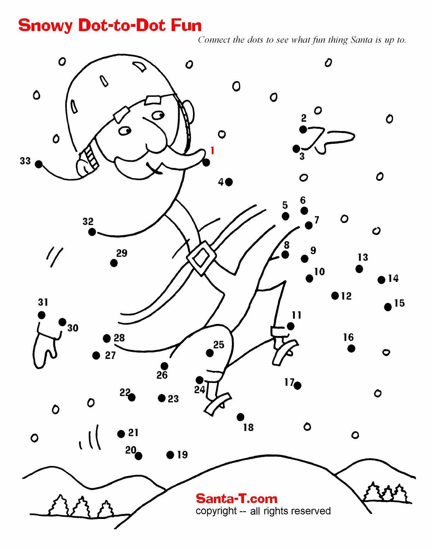 Santa Dot To Dot More Fun Activities And Coloring Pages At Santatimes