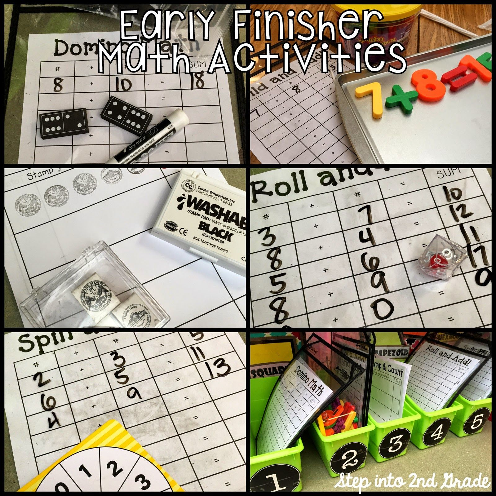 Step Into 2nd Grade With Mrs Lemons I M Done Now What Free Early Finisher Math Activities