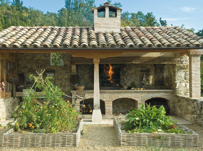 a summer kitchen to enjoy the mediterranean weather with a herb garden close at hand on outdoor kitchen herb garden id=45934