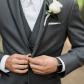 Wedding groom suit tuxedo grey mens warehouse vera wang apple watch
