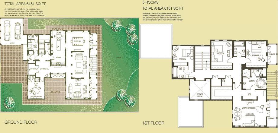 The Springs The Meadows Dubai Floor Plans 4E 4M