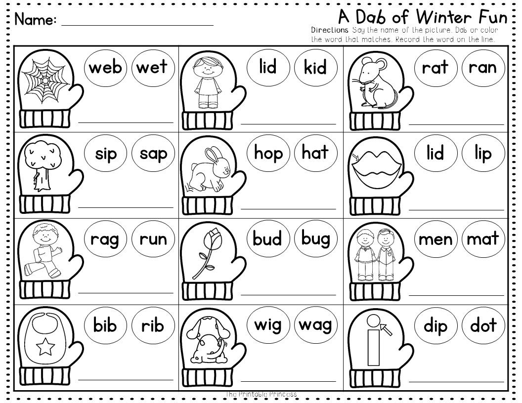 Winter No Prep Pages Literacy And Math Activities For Kindergarten