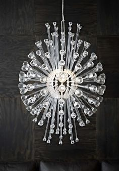 The New Ikea Stockholm Collection A Chandelier Design Inspired By Dew Drops In Spider Web