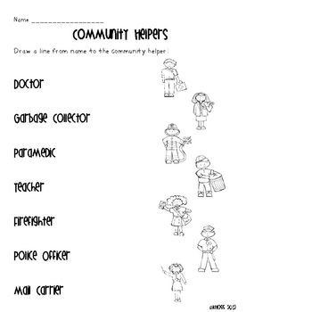 Community Helpers Activity Sheets