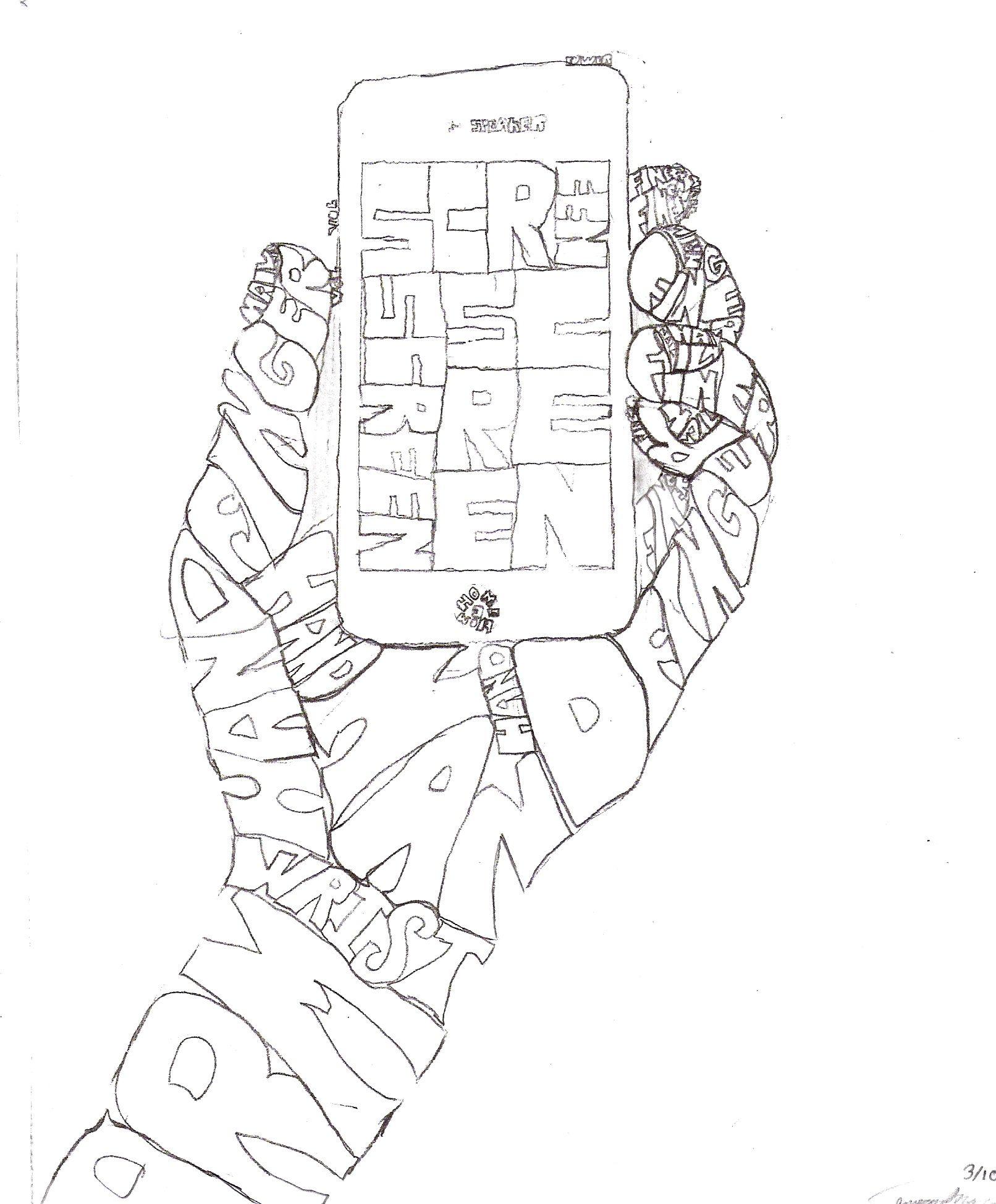 Grade 8 Calligram Word Pictures