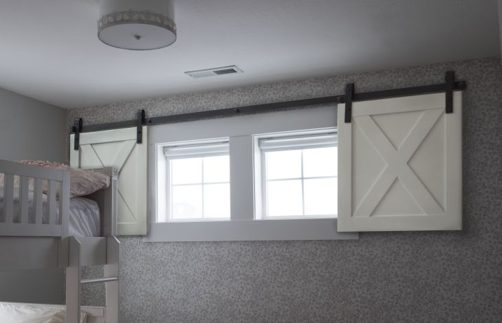 Mini barn door shutters Perfect for small spaces  Places Spaces
