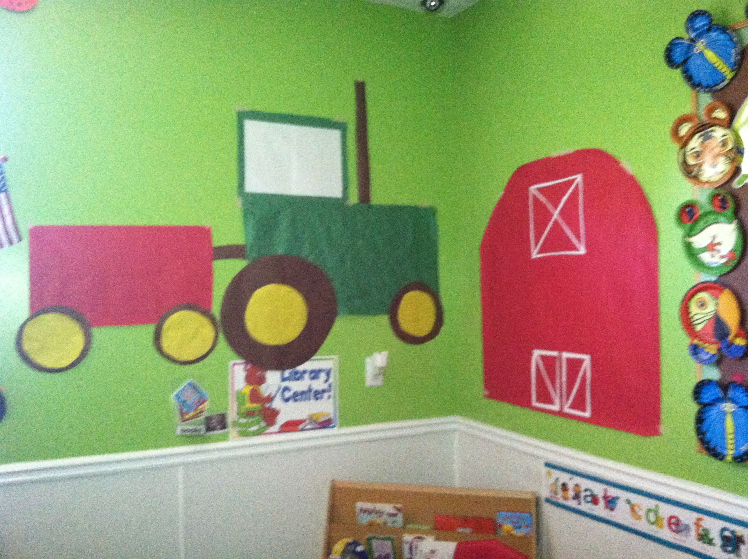 Farm Classroom Tractor Barn Bulletin Board Education