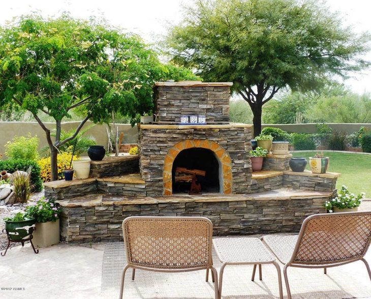 Stunning Outdoor Fireplace Designs For Relaxing With Your