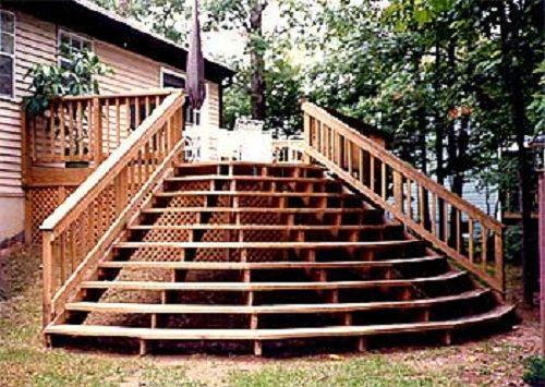 deck staircase design ideas wearefound home - Deck Stairs Design Ideas