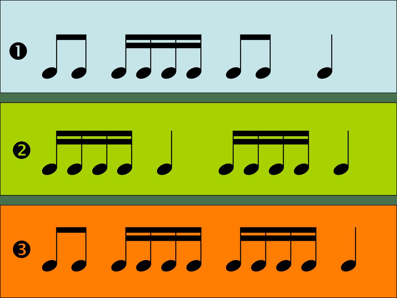 16th Note Rhythm Cards 3rd 4th 5th Grades