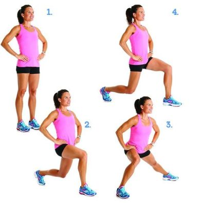 Image result for Around-the-Clock Lunges: