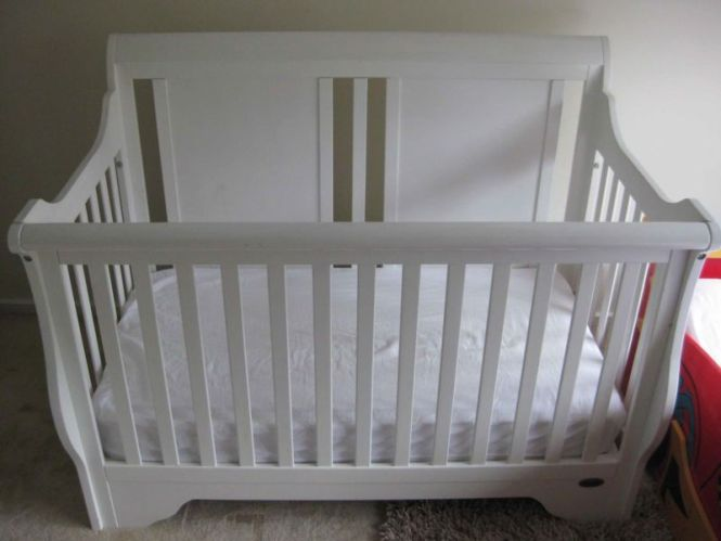 White Bruin Wooden Cot With Mattress Cots Bedding Gumtree Australia Belconnen Area