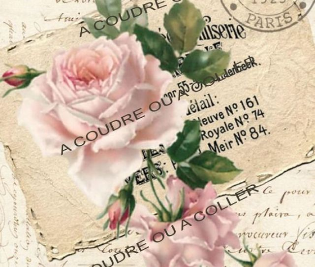 Vintage Rose Digital Collage Free To Use Shabby Chic Pritable