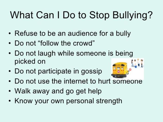 Image result for tips to prevent bullying