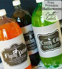 halloween drink labels free
