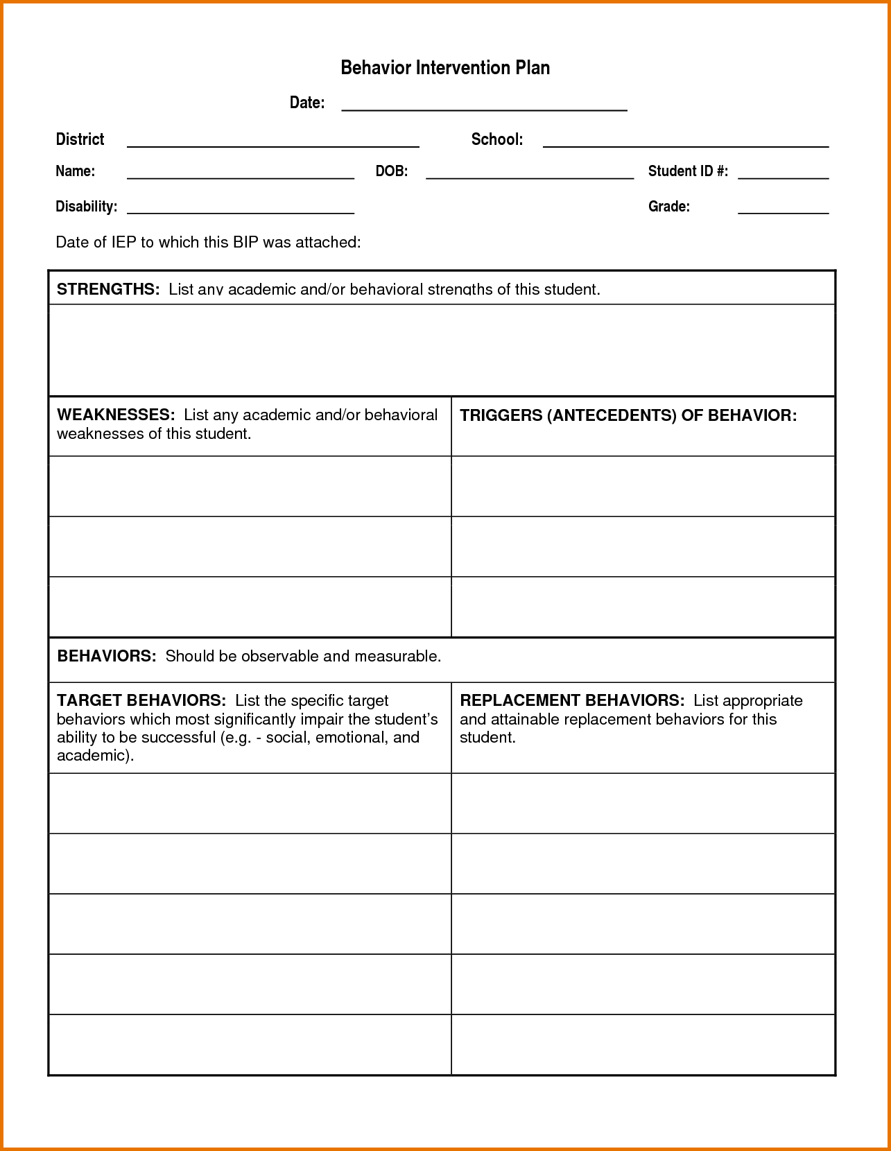 Academic Intervention Plan