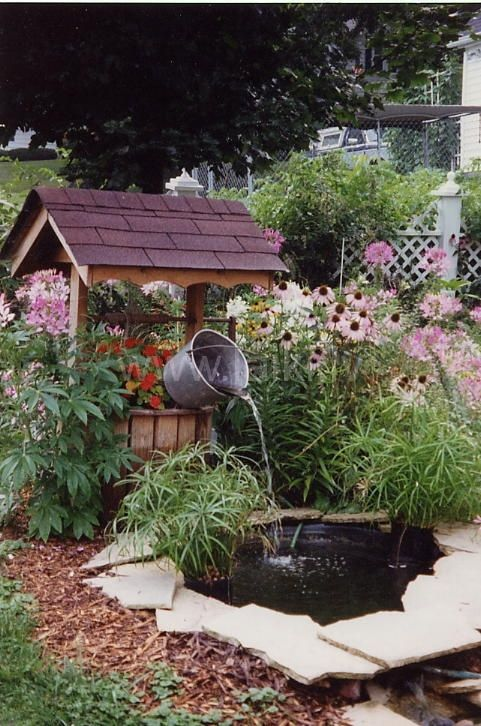 Wishing Well Water Fountain Google Search Gardening Amp Green Thumb Joy Pinterest