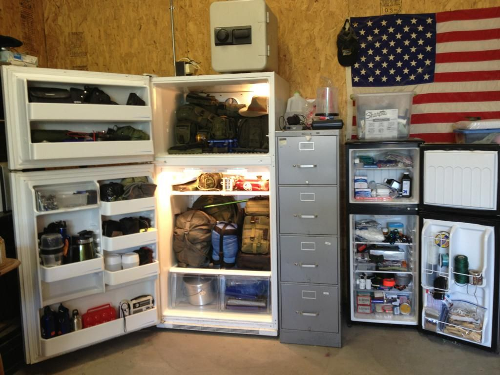 Upcycle Old Refrigerators To Store Camping Kit Protects