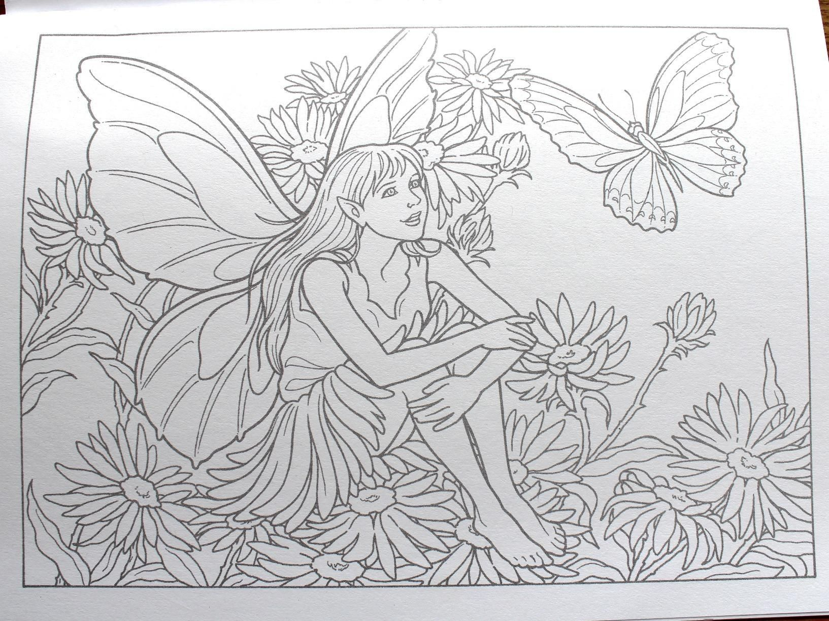 Fairies To Paint Or Color Dover Art Coloring Book Darcy