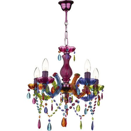 Create A Bold Style Statement In Your Home With This Colourful Chandelier Perfect For