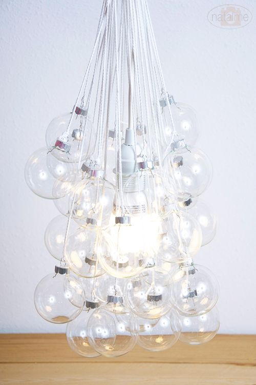 How To Make A Bubble Light Fixture Using Christmas Ornaments