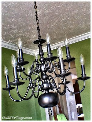 Up Cycled Chandelier Planterchandelier Ideasbrass Makeoverspray Painted