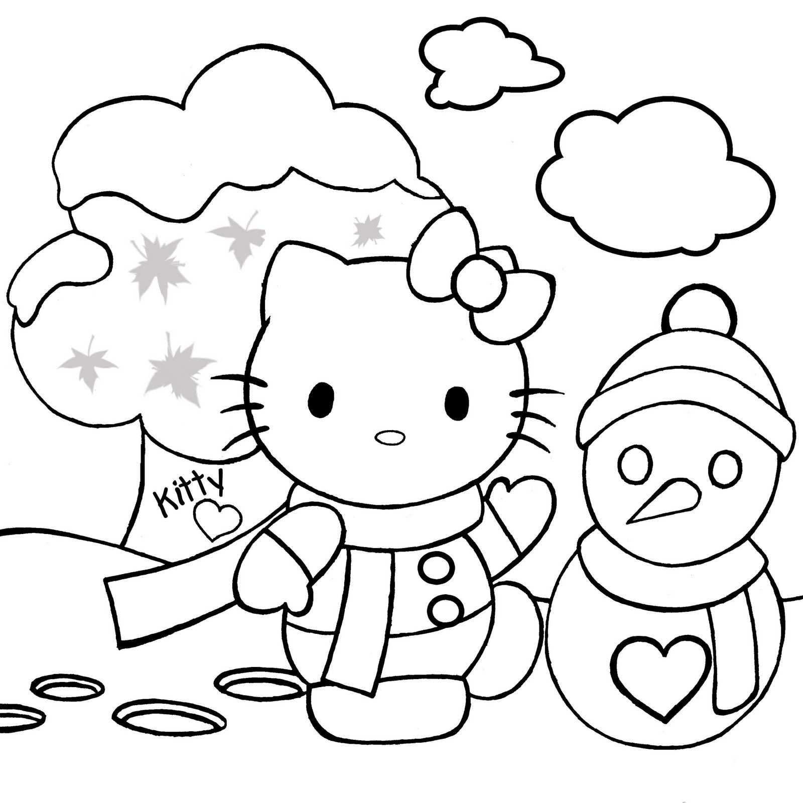 Christmas Printable Coloring Pages X