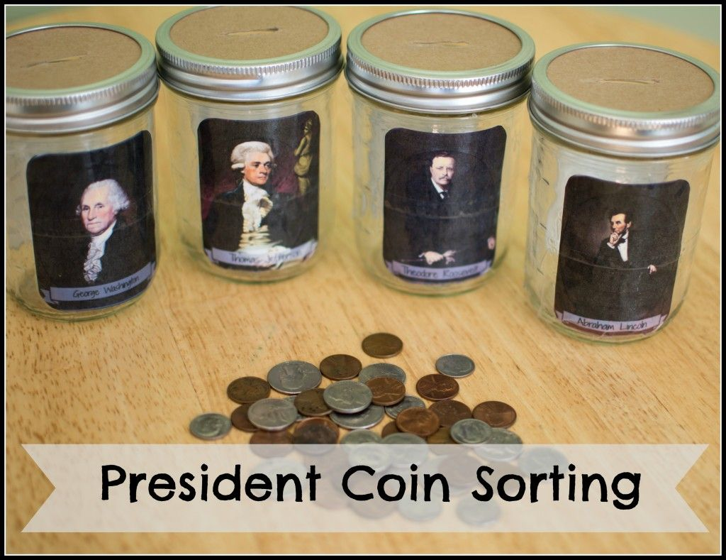 Coin Sorting Game For Presidents Day Free Printable Template